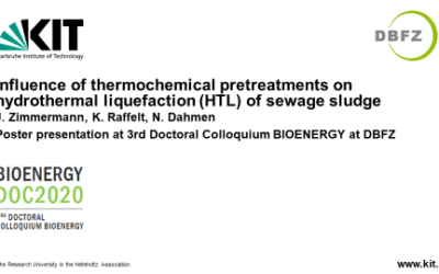 KIT presented a poster at the 3rd Doctoral Colloquium BIOENERGY on 18 September 2020